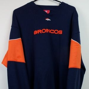 Denver Broncos Sweatshirt NFL Size XL Embroidered